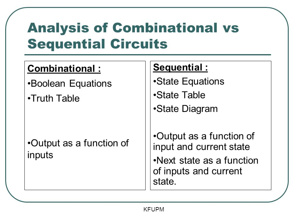 Analysis of Combinational vs Sequential Circuits