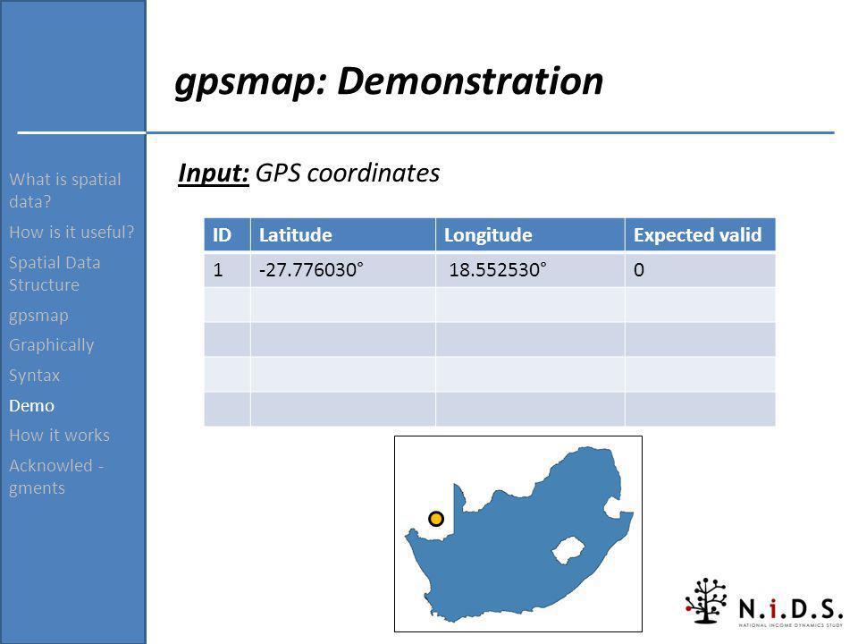 gpsmap: Demonstration