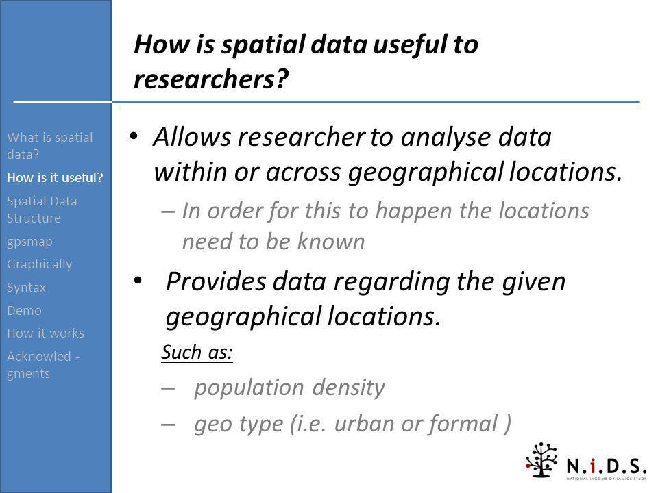 How is spatial data useful to researchers
