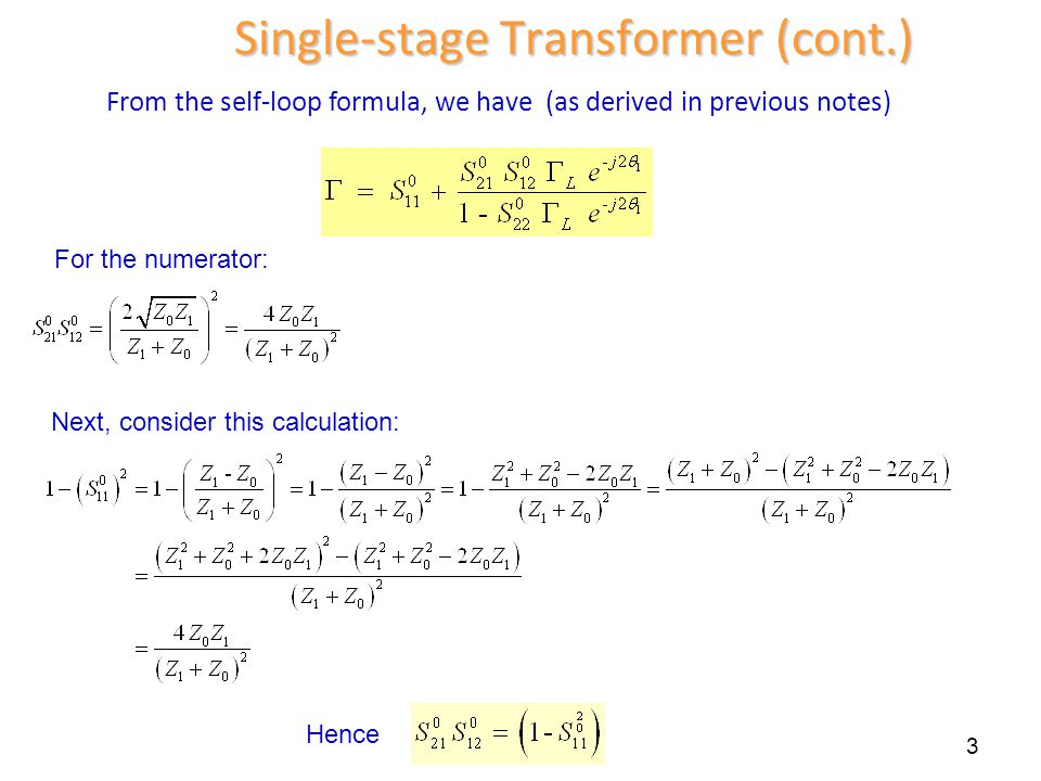 Single-stage Transformer (cont.)