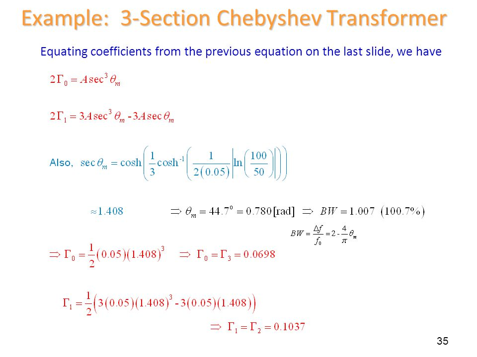 Example: 3-Section Chebyshev Transformer