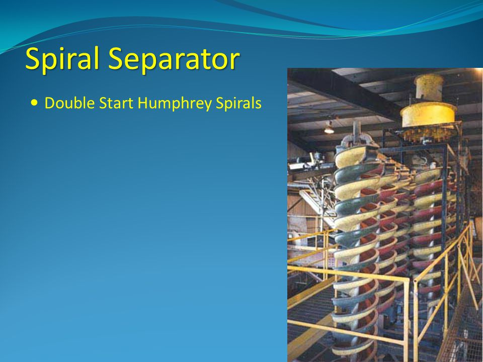 Spiral Separator Double Start Humphrey Spirals