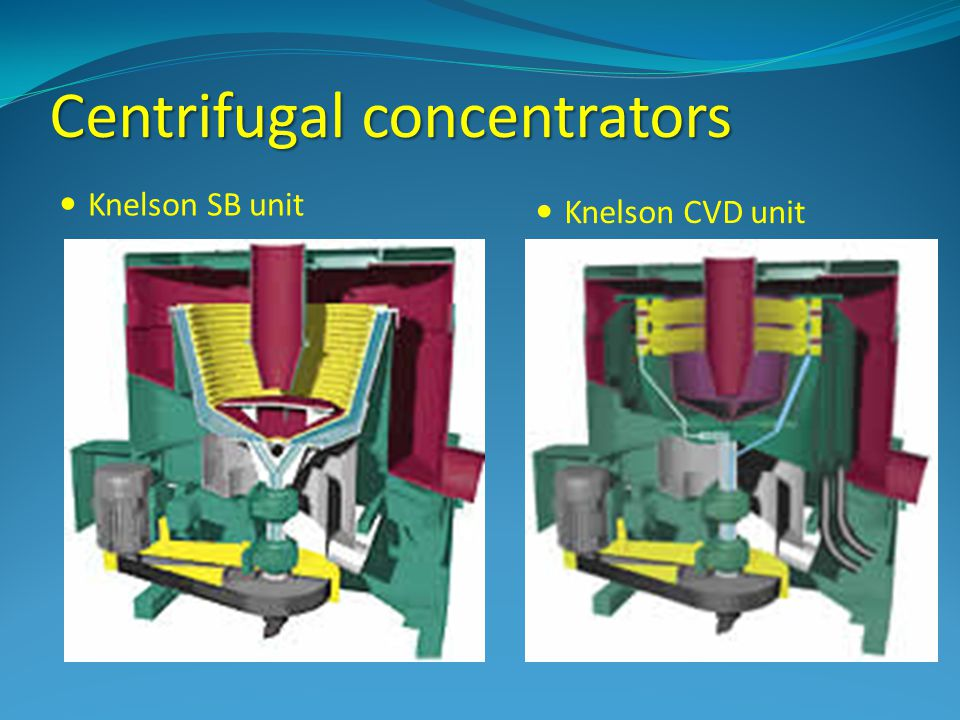 Centrifugal concentrators