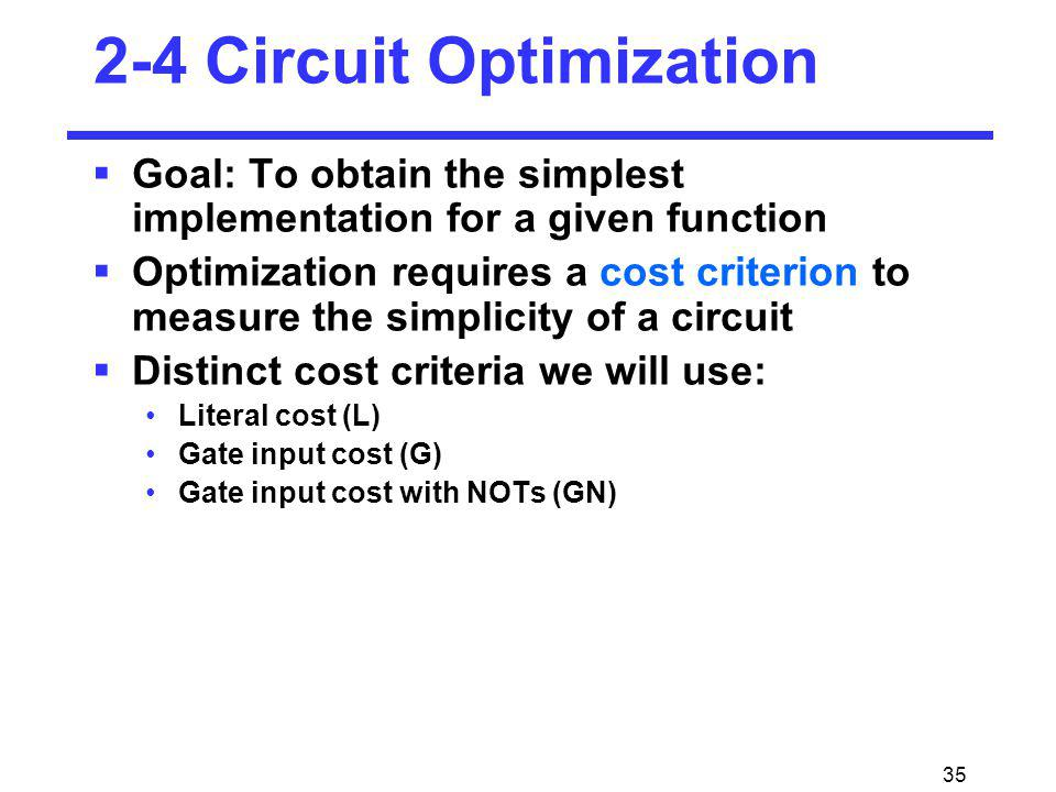 2-4 Circuit Optimization