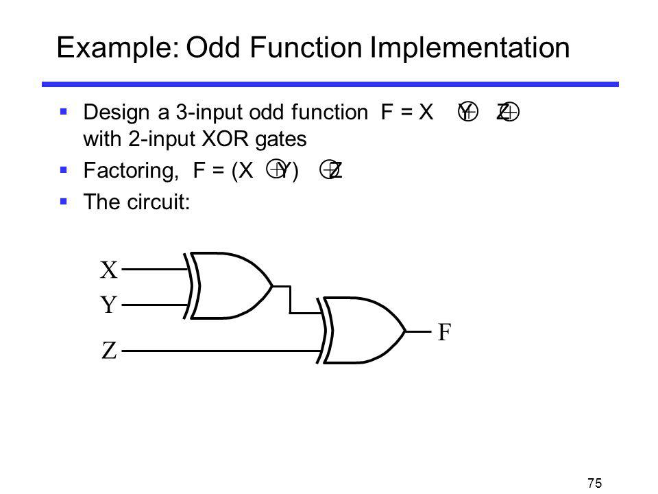 Example: Odd Function Implementation