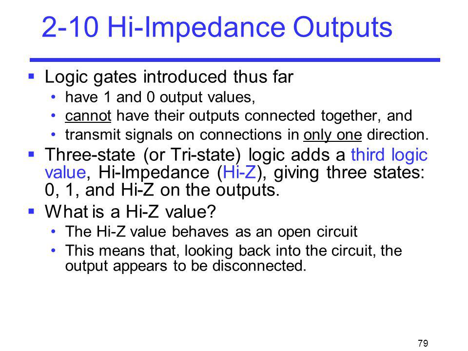 2-10 Hi-Impedance Outputs