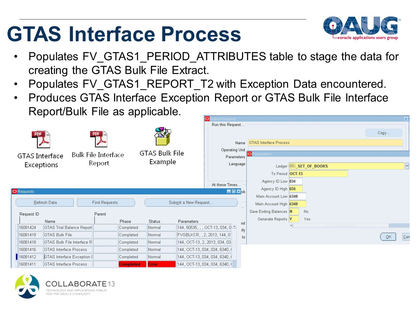 GTAS Interface Process
