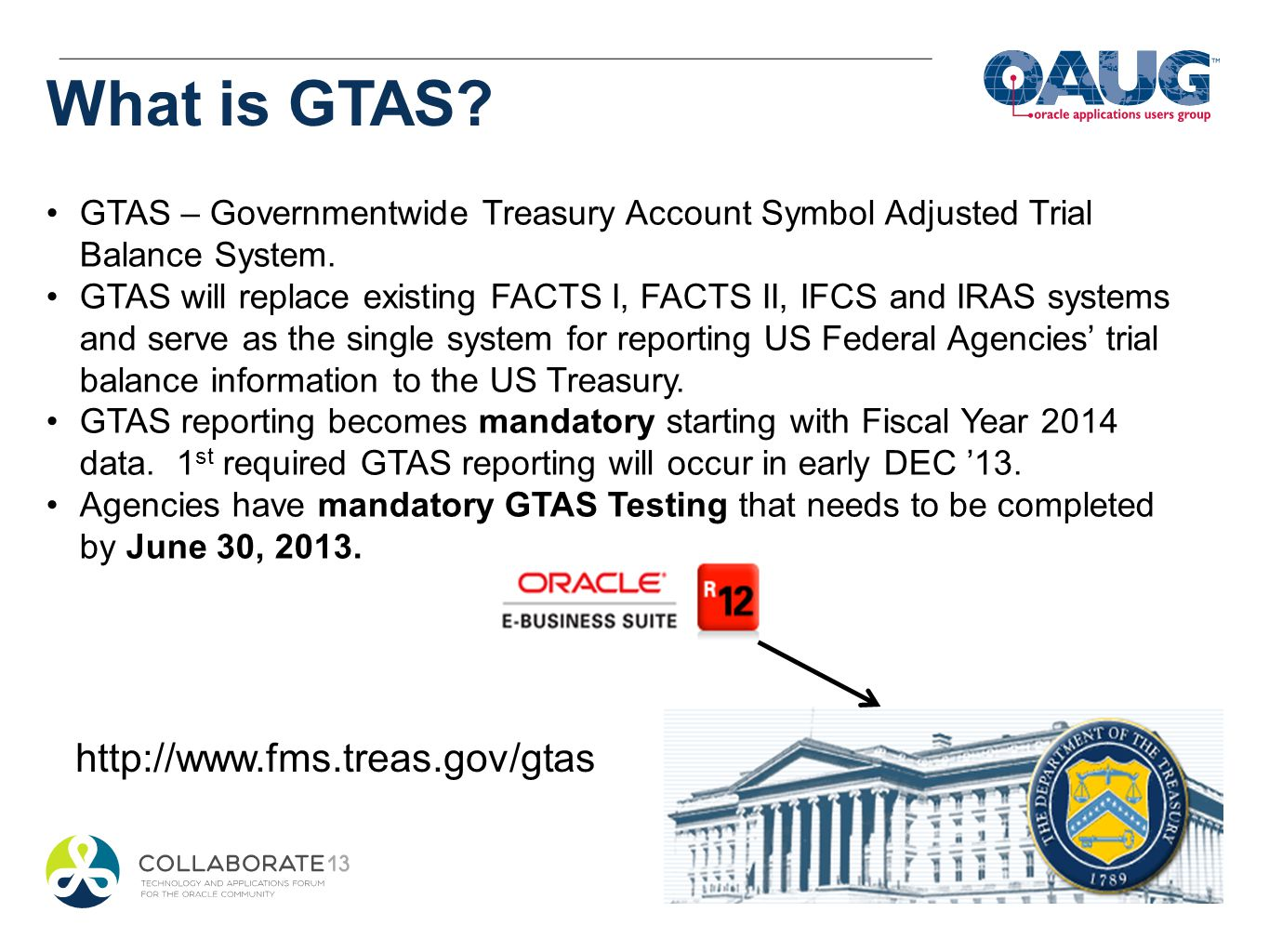 What is GTAS http://www.fms.treas.gov/gtas