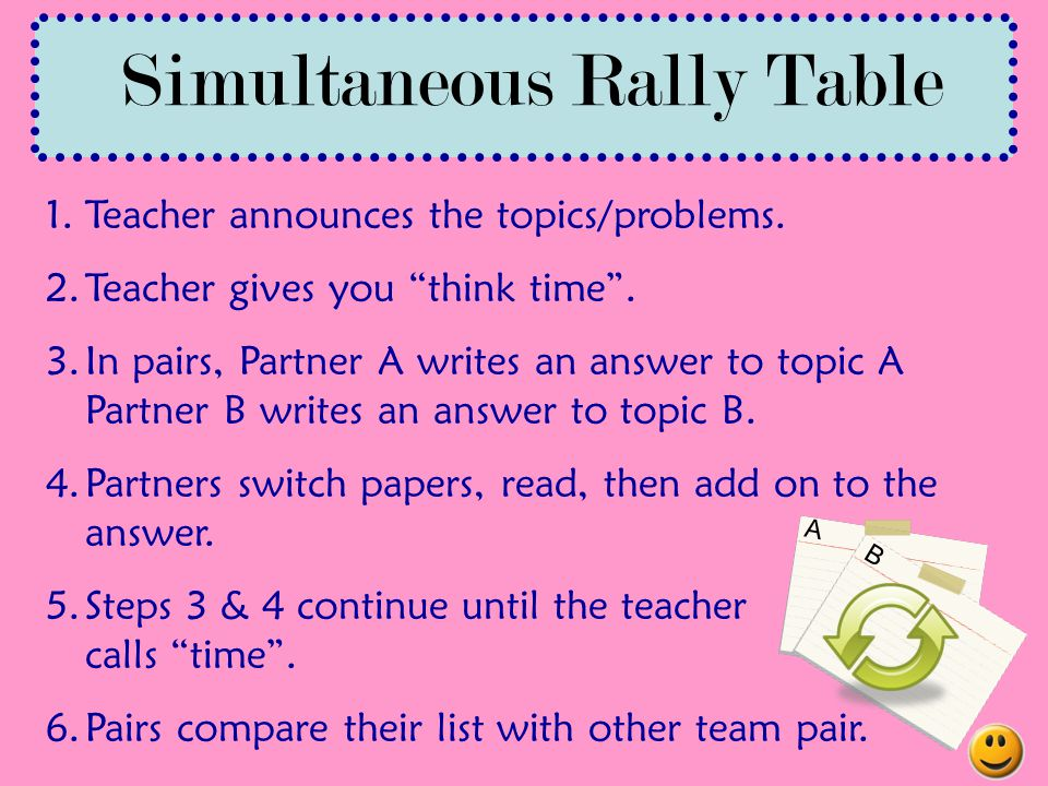 Simultaneous Rally Table