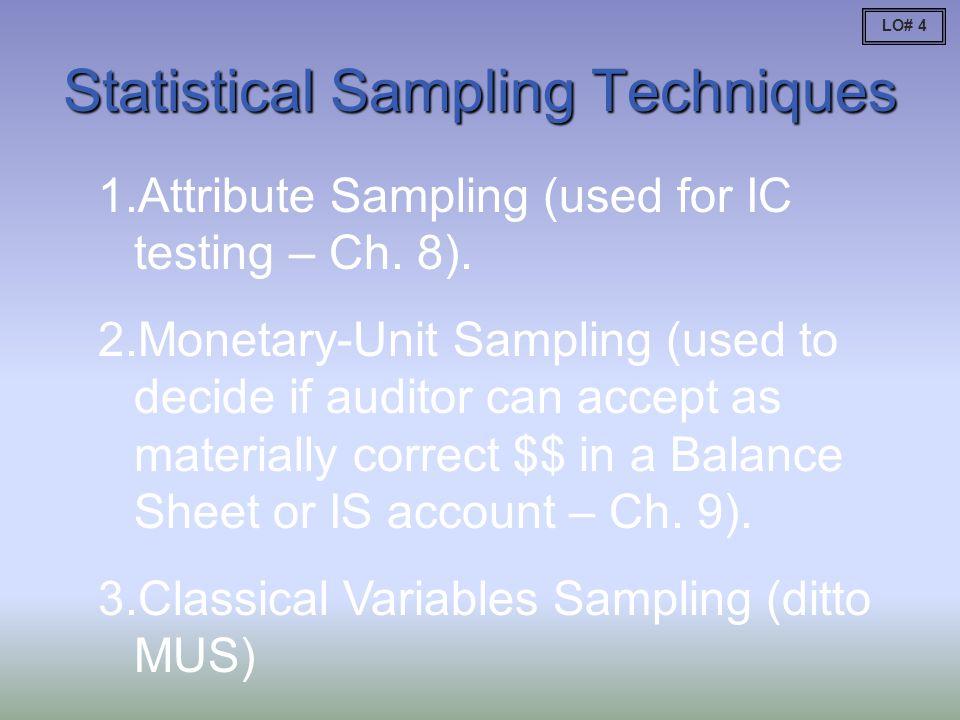 Statistical Sampling Techniques