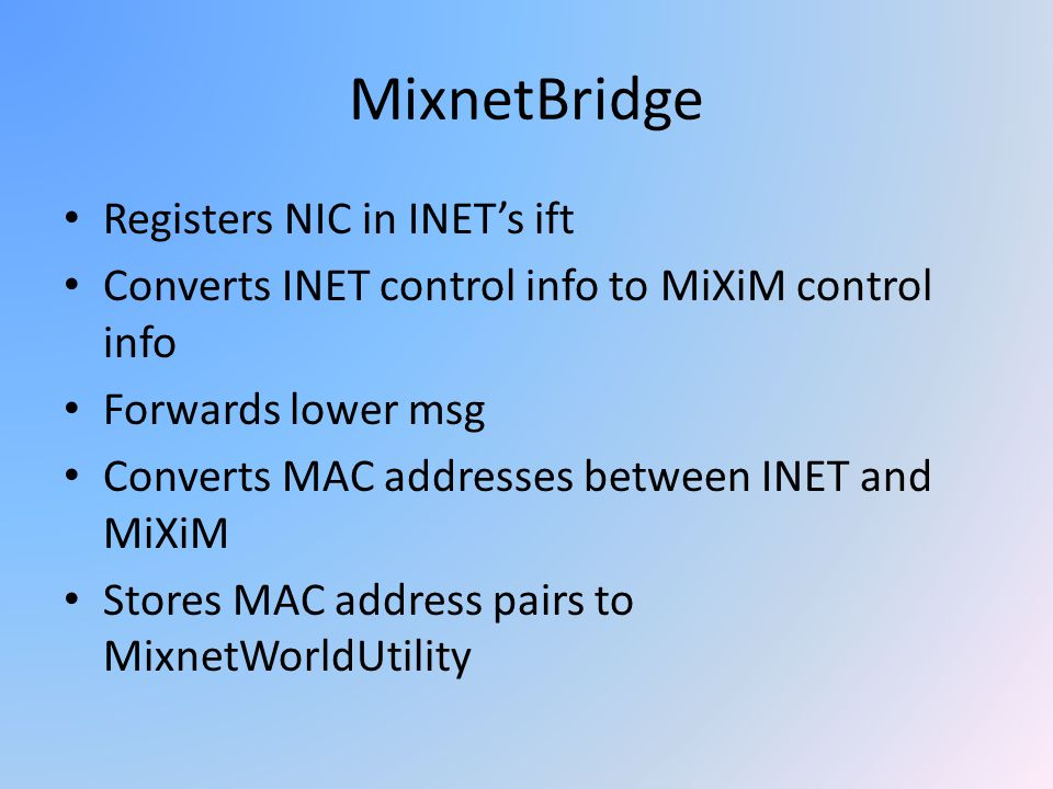 MixnetBridge Registers NIC in INET's ift
