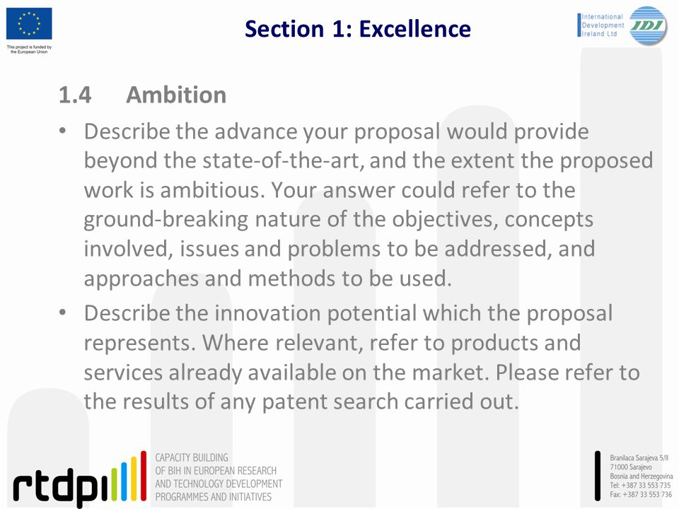 Section 1: Excellence 1.4 Ambition