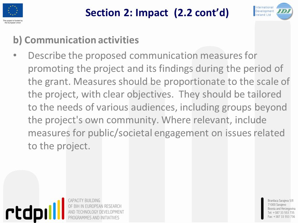 Section 2: Impact (2.2 cont'd)