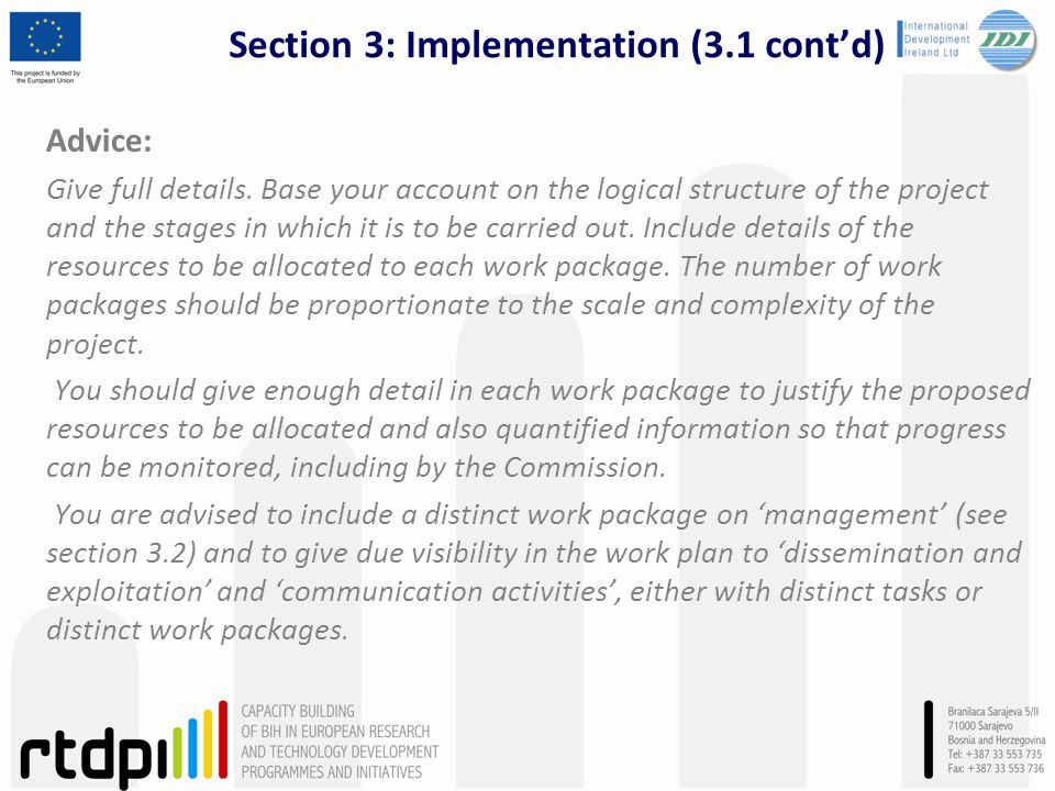 Section 3: Implementation (3.1 cont'd)