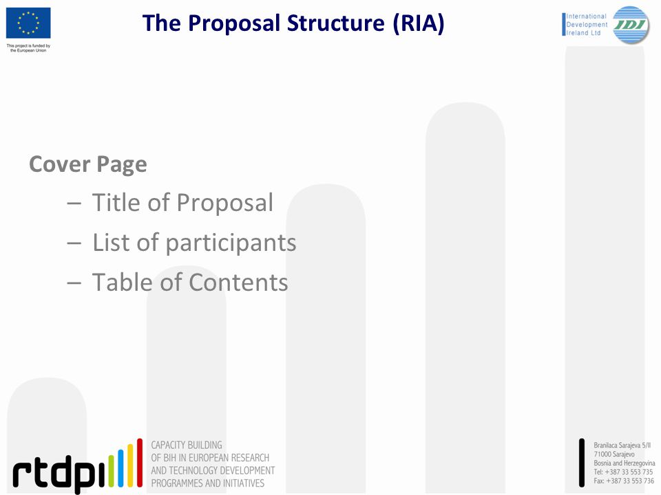The Proposal Structure (RIA)