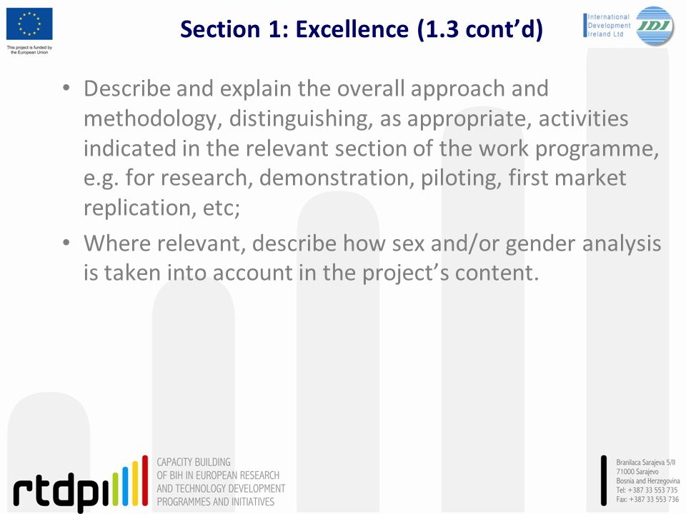 Section 1: Excellence (1.3 cont'd)
