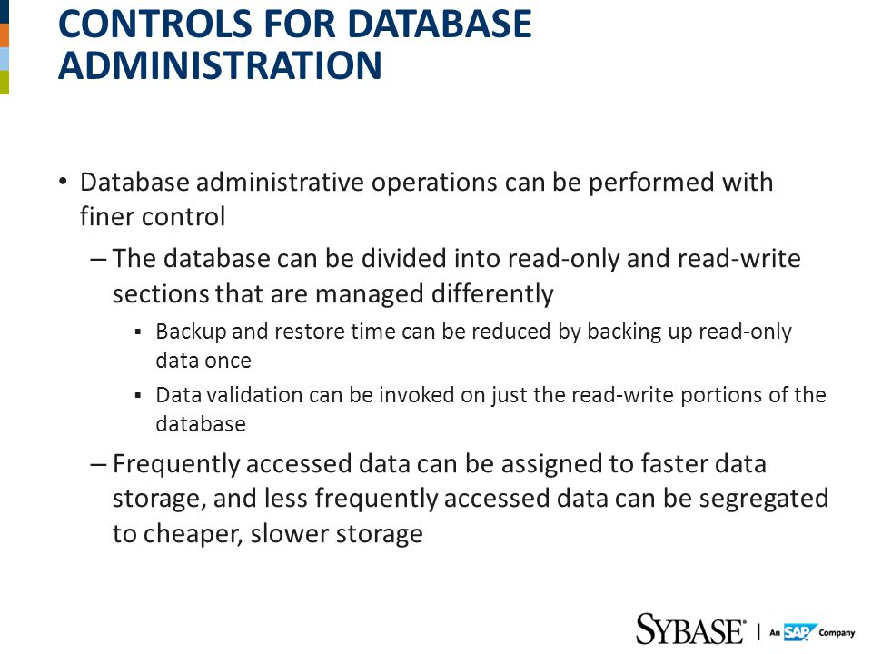 Controls for Database Administration