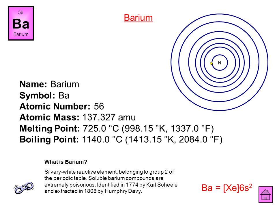 56 Ba. Barium. Barium. N.
