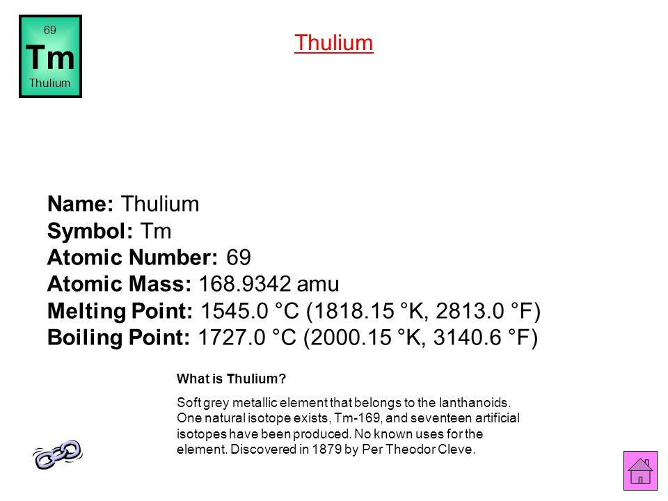 69 Tm. Thulium. Thulium.