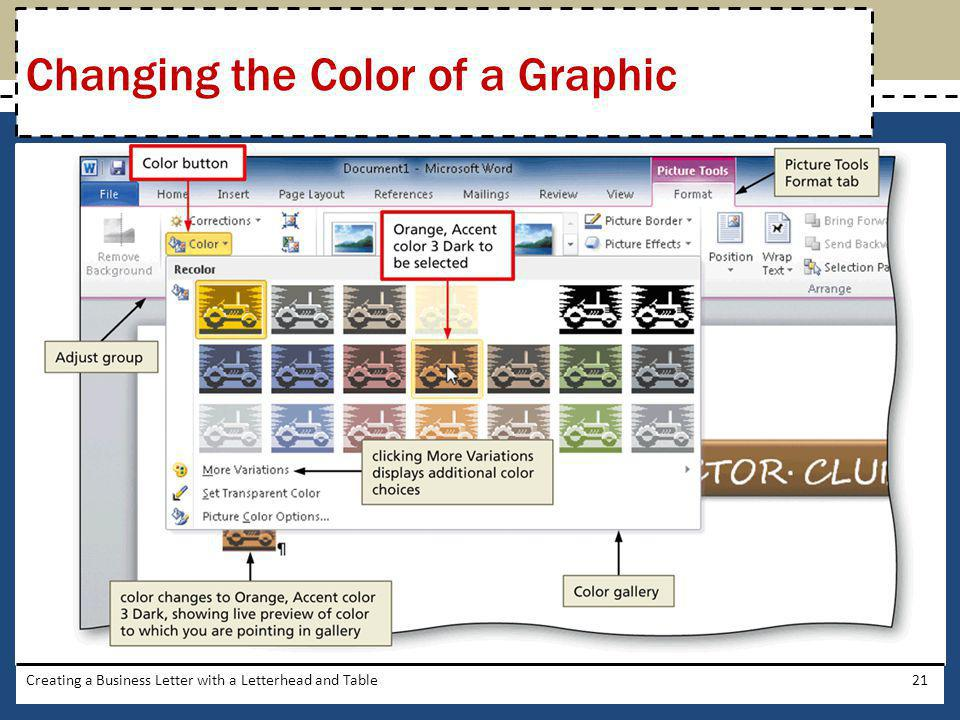 Changing the Color of a Graphic