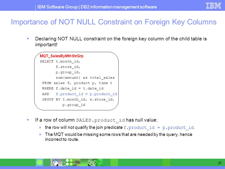 Importance of NOT NULL Constraint on Foreign Key Columns
