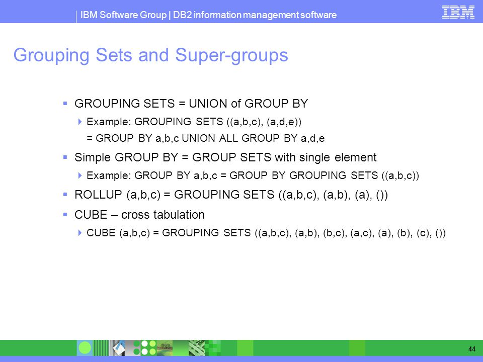 Grouping Sets and Super-groups