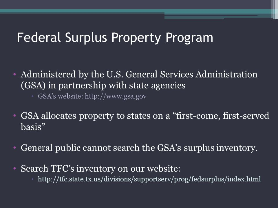 Federal Surplus Property Program