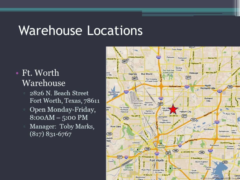 Warehouse Locations Ft. Worth Warehouse