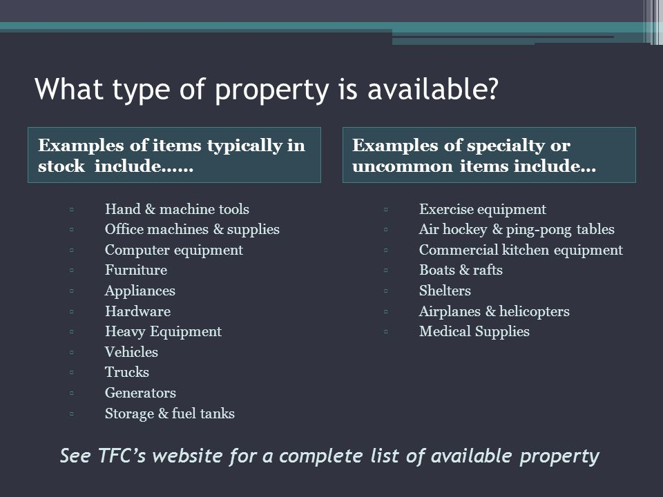 What type of property is available