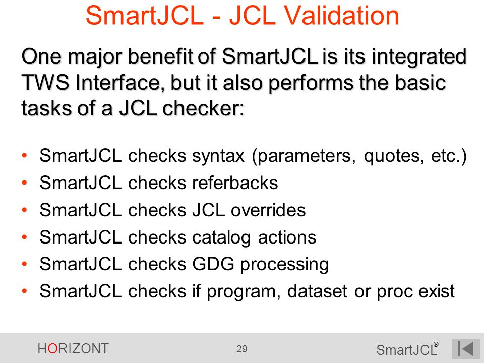 SmartJCL - JCL Validation