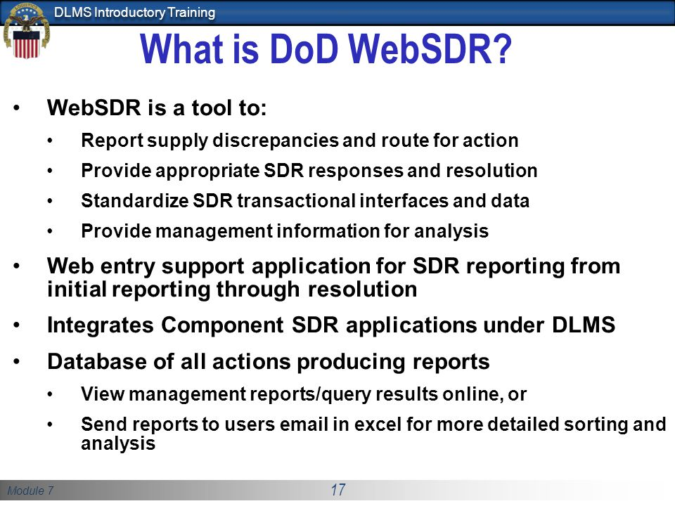 What is DoD WebSDR WebSDR is a tool to: