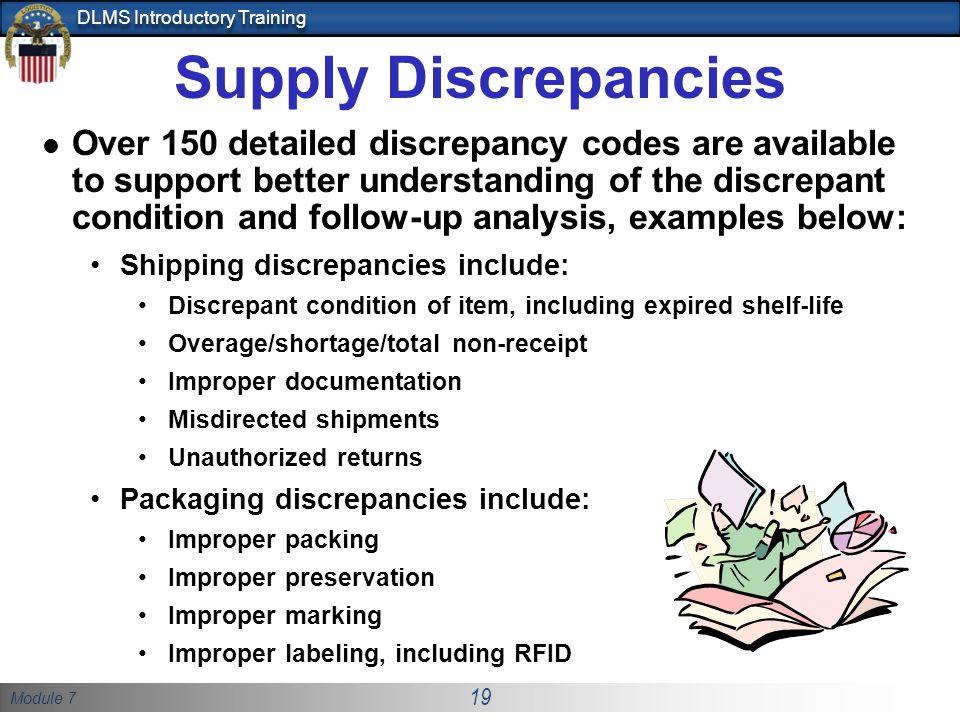 Supply Discrepancies