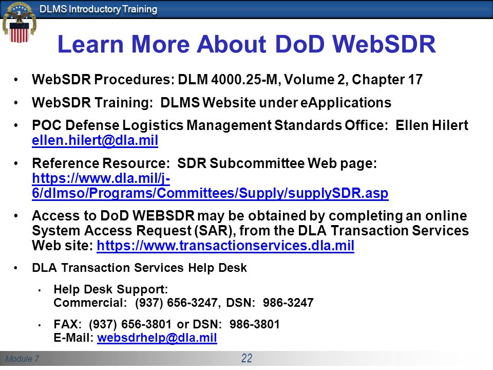 Learn More About Dod Websdr