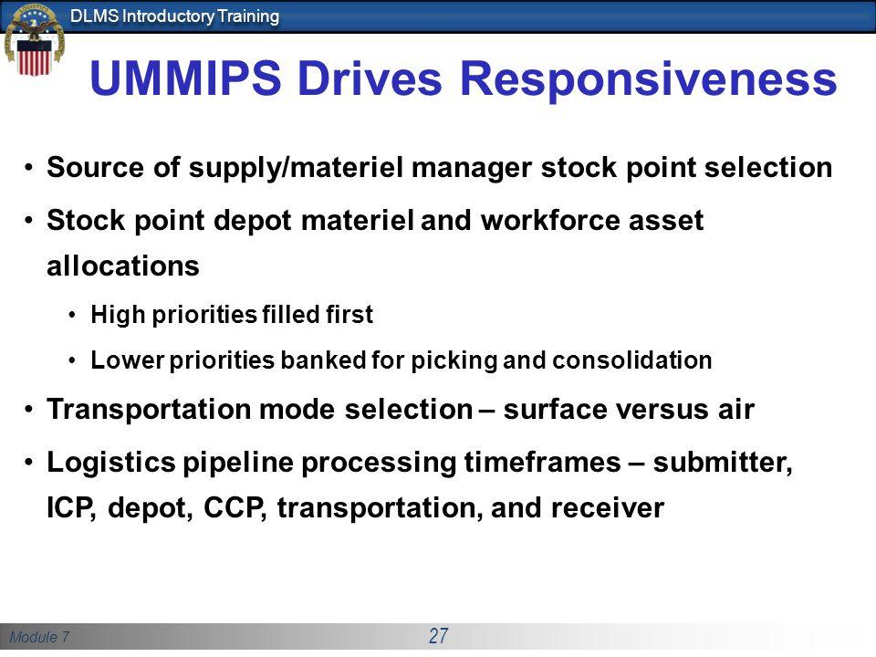 UMMIPS Drives Responsiveness