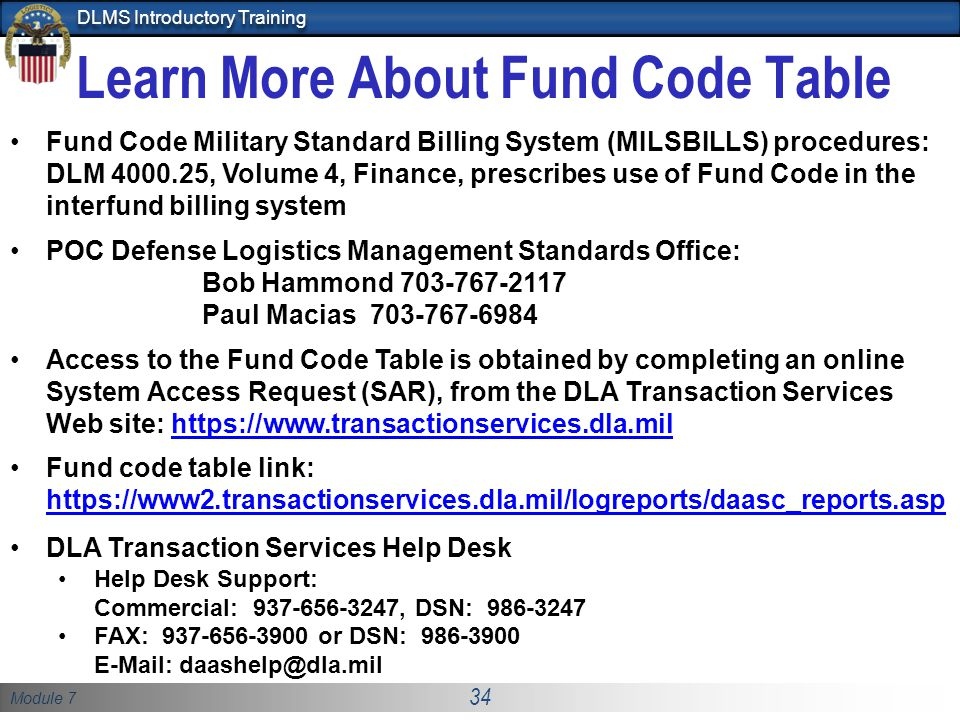 Learn More About Fund Code Table