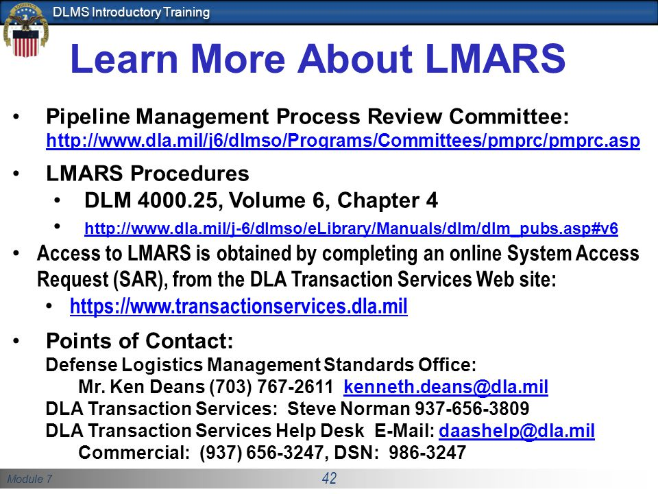 Learn More About LMARS Pipeline Management Process Review Committee: