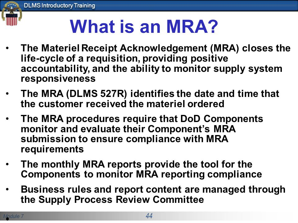 What is an MRA