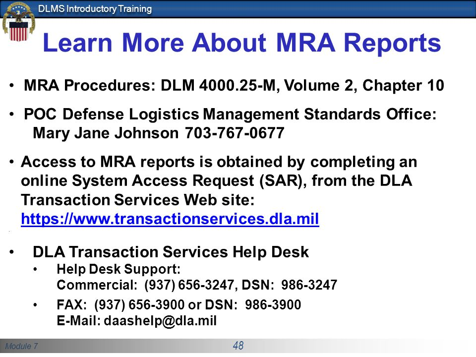 Learn More About MRA Reports