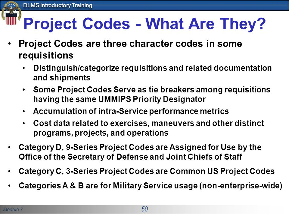 Project Codes - What Are They