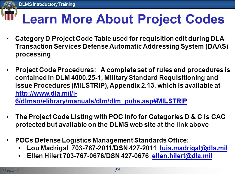Learn More About Project Codes
