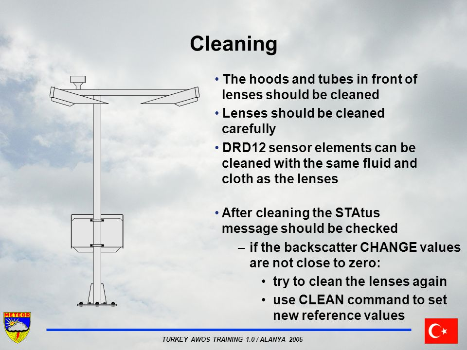 Cleaning The hoods and tubes in front of lenses should be cleaned