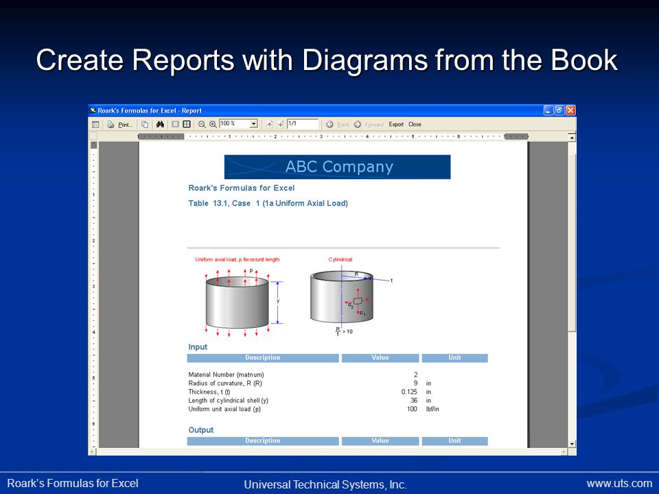 Create Reports with Diagrams from the Book