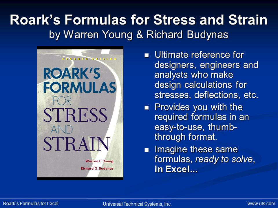 Roark's Formulas for Stress and Strain by Warren Young & Richard Budynas