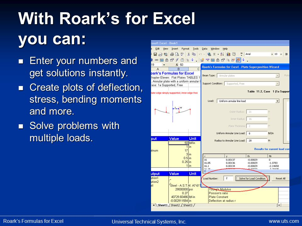 With Roark's for Excel you can: