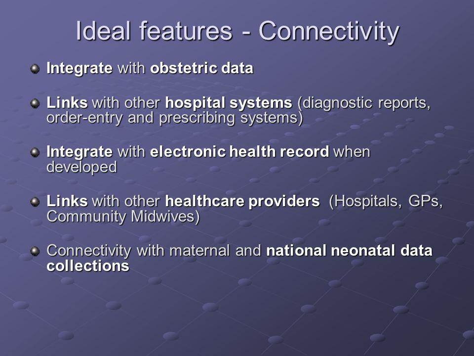 Ideal features - Connectivity
