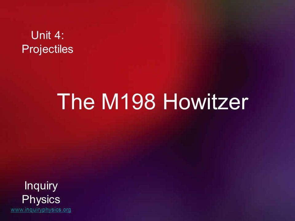The M198 Howitzer Unit 4: Projectiles Inquiry Physics