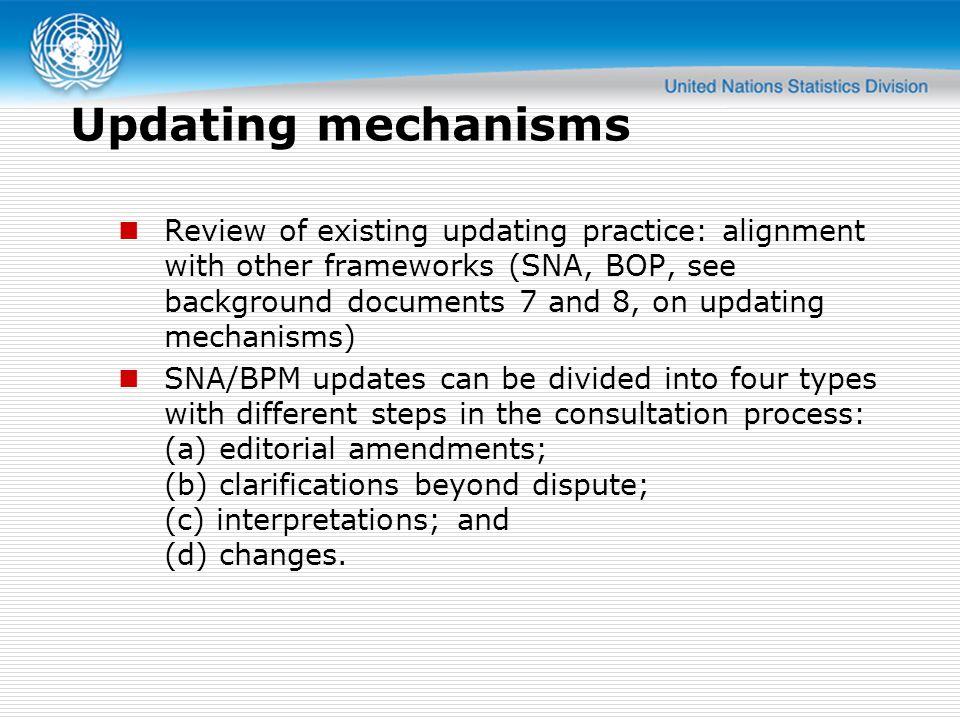 Updating mechanisms