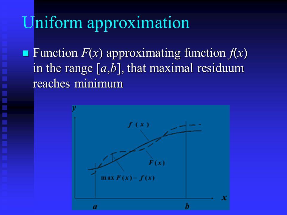 Uniform approximation