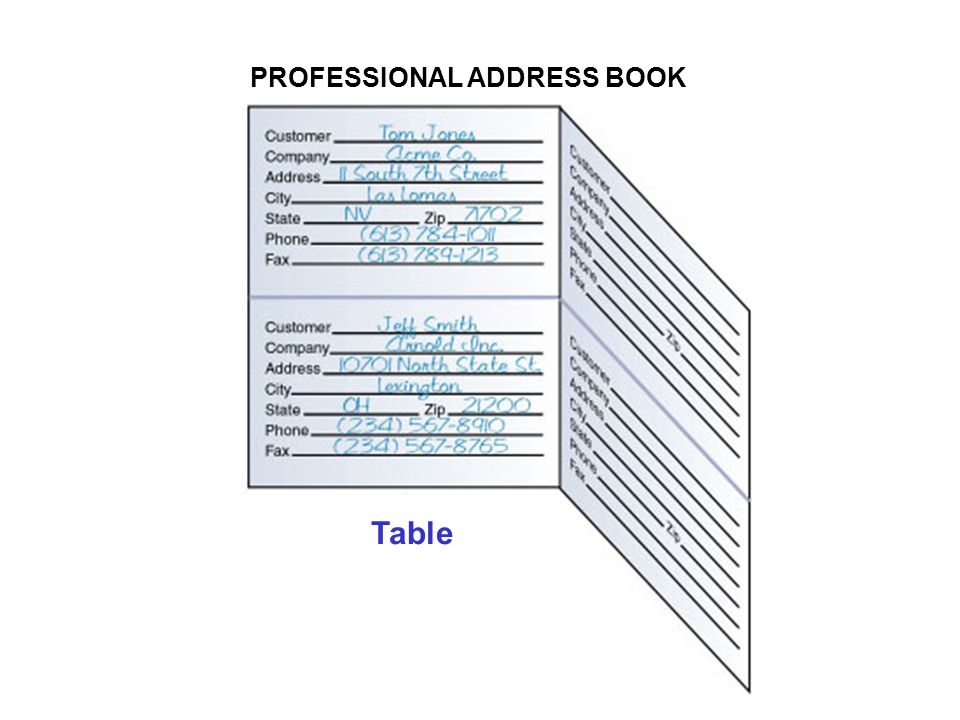 PROFESSIONAL ADDRESS BOOK