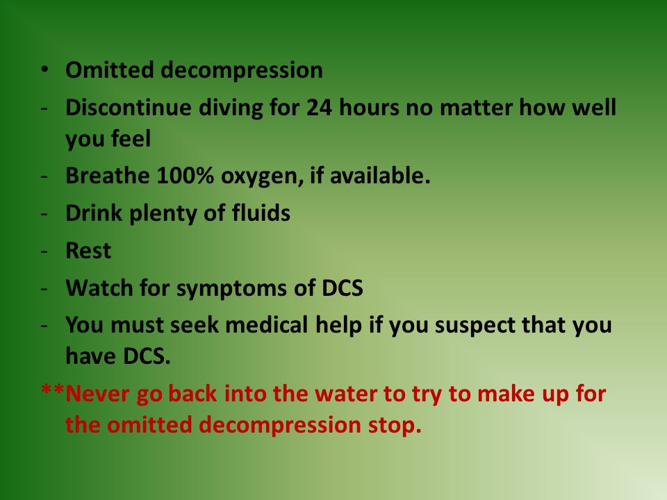 Omitted decompression